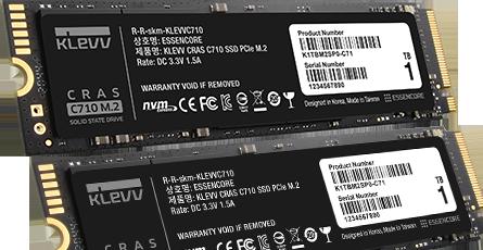KLEVV CRAS C710 M.2 NVME SSD / PCIe SSD - 1TB 6